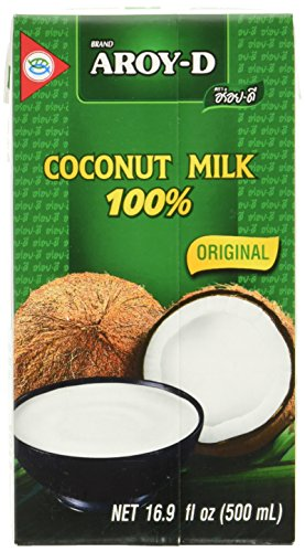 Kokosnuss-wasser Kalorienarme (Aroy-D Kokosnussmilch, Fettgehalt: ca. 17%, 8er Pack (8 x 500 ml Packung))