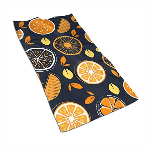 Tyueu Handtücher 27.5 X 17.5 in Towel Orange Wallpaper Soft Super Absorbent Towel Quick-Drying Bath Beach Camping Sports Towel -