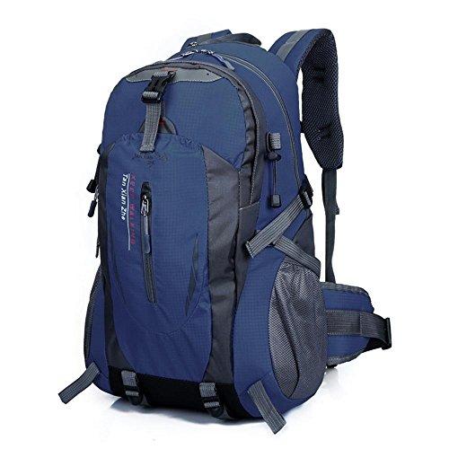 Preisvergleich Produktbild Außentasche wasserdichte Nylon Reisetasche Paar doppelte Schulter Freizeit Rucksack ,  dark blue