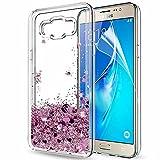 Funda Samsung Galaxy J7 2016 (SM-J710) / Galaxy J7 2016 Duos Purpurina Carcasa con HD Protectores de...