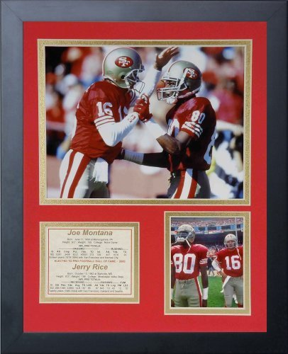 Legends Never Die Joe Montana and Jerry Rice Framed Photo Collage, 11 x 14-Inch by Legends Never Die (Rice Jerry Joe Montana,)