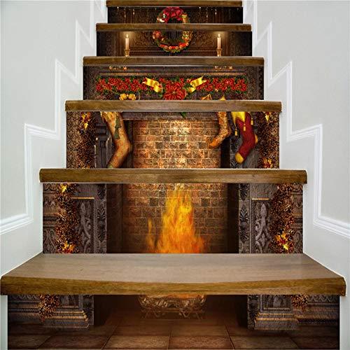 6 teile/satz diy 3d treppe aufkleber halloween treppe aufkleber boden wandtattoo aufkleber wohnzimmer dekoration (Halloween 6 Disney Teil)