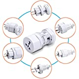 Okayji International Travel Adapter All In One Round Universal World Wide Charger Plug Suitable For All Your Electronic Devices, 1-Pieces