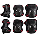 Child's Pad Set,EONPOW Kids' Cycling Roller Skating Knee Elbow Wrist Protective Pad set 6pcs Size S