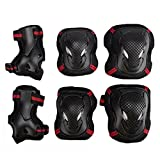EONPOW 6 Pcs / Set Enfants Patinage de protection -2 coudières+2 Wrist Pad+2 Knee Pads,Garcons Filles Enfants Bambins Boys Girls Childs Children Patin Cycle genou Set Coude Poignet Securite Plaquettes Enfants