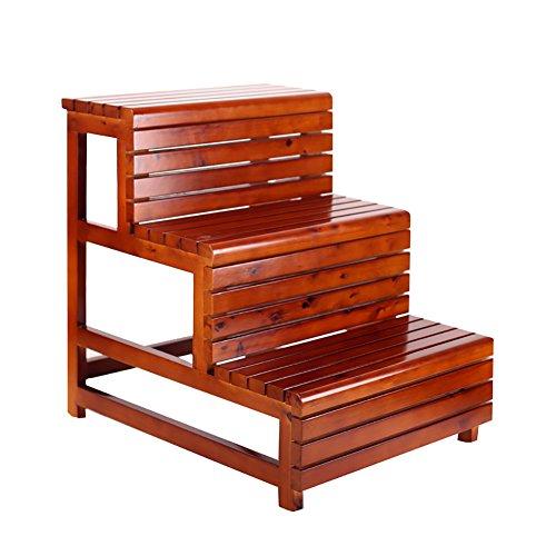 Stool Ladder- Escabeau multi-fonctions en bois massif (Couleur : A)