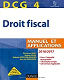 dcg 4 droit fiscal 2016 2017 10e ?d manuel et applications