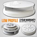 LOW PROFILE WHITE VAN ROOF AIR DUCT VENT VENTILATOR HORSEBOX CARAVAN DOG BUS