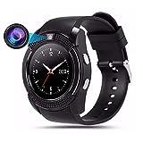 Teepao U8Bluetooth Smart Watch, Pro Smartwatch mit Kamera Fitness Tracker SD-Karte Sim Karte Intelligente Armband zu Fuß Schlaf Monitor für Android/Huawei/iPhone, Herren/Frauen (weiß)