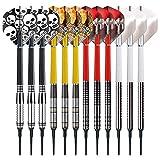 Red Dragon Steel Dartpfeile - Profi Steeldarts Set mit Metallspitze - 12 x Steel Darts Pfeile mit...