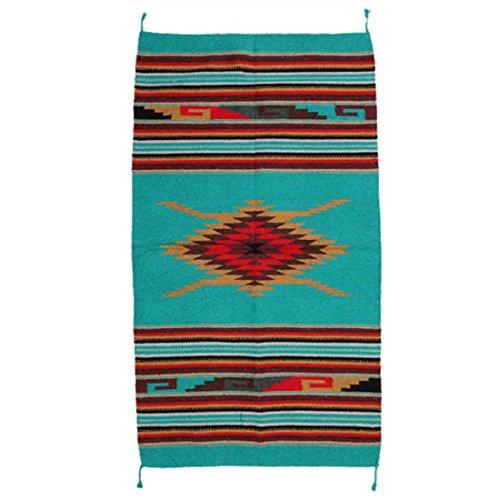 Teppich / Läufer im Stil der Navajo-Indianer - Southwest Ranch, Style III (Mexikanischer Teppich)