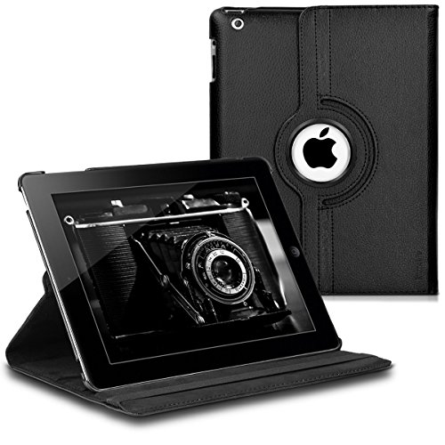 Apple iPad 2/3 / 4 Klappetui aus Kunstleder mit Standfunktion und Gummiband für Apple iPad 2/3 / 4