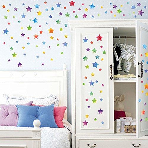 Canifon Moda Estrellas Decoración Pegatinas De Pared Decorativas Salon Infantil Niños Habitación del Bebé DIY Wall Art Home Decor Sticker B