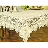 Hervorragendes Qualitäts Elfenbein Creme Spitze Land Rechteckiges Tischtuch Tischdecke 145cm x 220cm