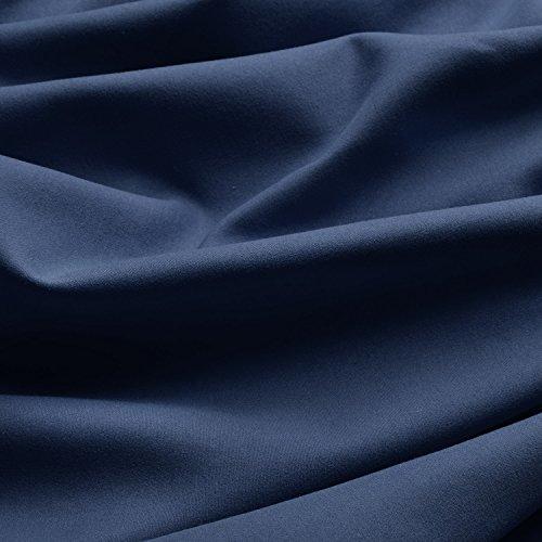 Beautissu Thermovorhang Amelie 140×245 cm Ösen-Schal Vorhang blickdicht & Verdunkelung – isolierende Gardine in Blau - 3