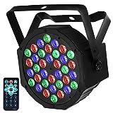 LED Par, Eyourlife LED Partylicht Bühnenbeleuchtung Discolicht 36 LEDs DMX512...