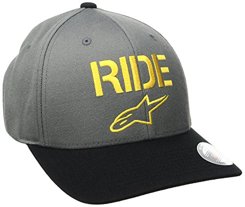 Alpinestars Ride Curve Hat, Casquette de Baseball Homme Gris (anthracite)