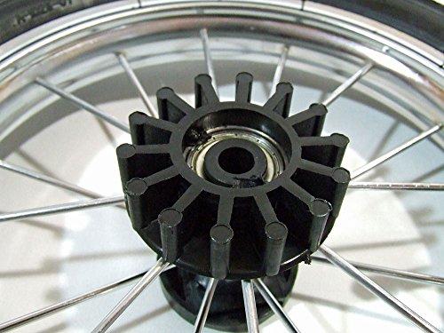 Bremskranz für Kinderwagen Rad mit Metallspeichen und Nabe 30 mm