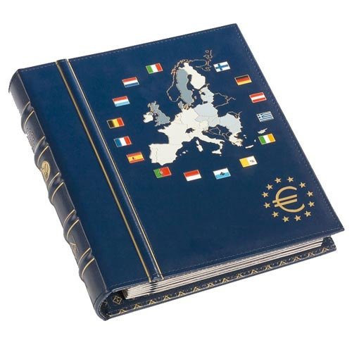 Leuchtturm 330256 Álbum para Monedas Vista, de Euro, tomo 1 para 12 S