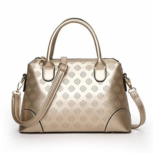 Weibliche strömung Geprägte tasche handtaschen Schulter messenger bag Gold