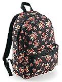 EQT-FASHION Bunter Design Flower Sommer / Schul Rucksack Blumen Ranzen Tasche pink rosa