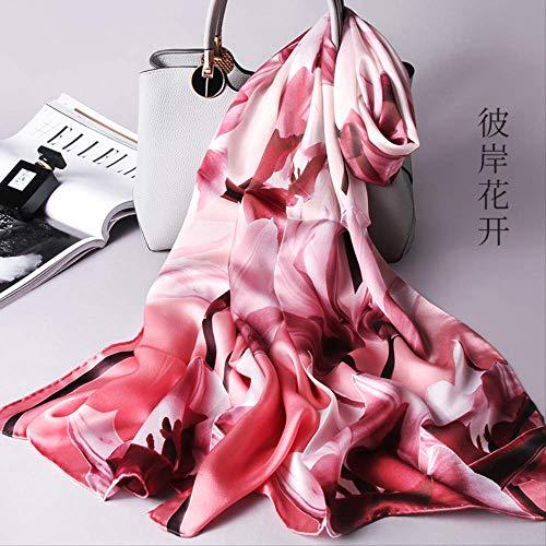 Delilah Blumen (zoyolo Herbst Und Winter Seide Chinesische Umhang Schal, Seide Seide Schal Druck Mode Dame Schal 53X170cm Die andere Seite der Blumen)