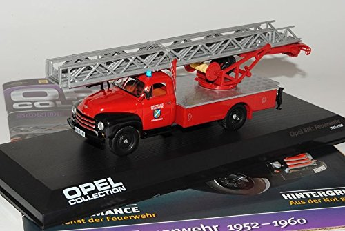 Ixo Opel Blitz Feuerwehr 1952-1960 Inkl Zeitschrift Sonderausgabe 1/43 Modell Auto