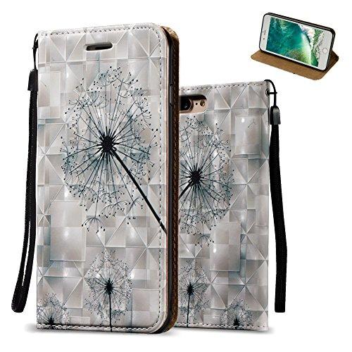 coque-iphone-7-plus-2016-gris-aeequer-elegant-pissenlit-motif-folio-lisse-housse-de-protection-en-pu