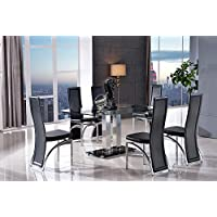 Amazon Co Uk Glass Dining Room Sets Dining Room Furniture Home