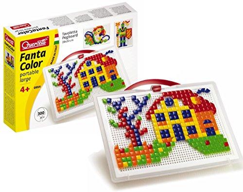 quercetti-0954-mosaik-steckspiel-fanta-color-portable-small-300-stecker-in-2-formen-dreieck-und-quad