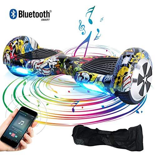 "BEBK Hoverboard, 6.5"" Elektro Scooter mit APP Funktion, Bluetooth Lautsprecher, 700W Motor, LED, Self-Balance E-Skateboard (Hiphop)"
