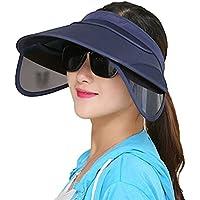 VORCOOL Sport Visor Cap Strohhut Unisex Kappe UV Schutz Einstellbar für Sommer Tennis Golf Radfahren Angeln Laufen Jogging (Dunkelblau)