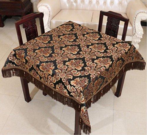 nappe de table Européenne de luxe épaisse table tissu nappe table à thé tissu rond nappe Jacquard 90 * 90 cm-150 * 220 cm Tapis de table (Couleur : #1, taille : 90 * 90cm)
