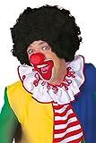 Jannes Deluxe 8004 Clownsperücke Afro Schwarz Lockenperücke Einheitsgröße