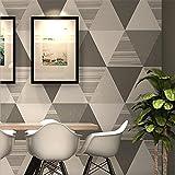 AIKE Wallpaper Modern Minimalistic Nordic Style Geometrische Gitter Dreieck Tapete Roll für Wohnzimmer/Schlafzimmer, C