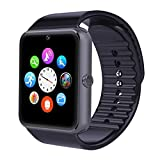 AsiaLONG Sport Smartwatch Bluetooth Smart Uhr Watch Fitnessarmband mit 1.54 Zoll Display / SIM Kartenslot / NFC / Schrittzähler / Schlafanalyse / Romte Caputure für IOS Android Smartphone (Schwarz)