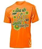 Das ist Mein 60er Jahre Kostüm Herren T-Shirt Mottoparty Schlagerparty 791 Karneval Fasching Faschingskostüm Karnevalskostüm Erwachsene Orange XXL