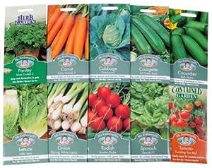 Mr. Fothergill's Lot de 10 sachets de graines à semer de légumes