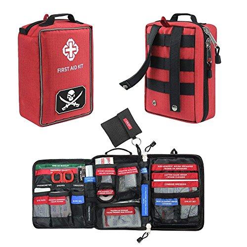Airsson Erste Hilfe Ausrüstung Set - Erste Hilfe Tasche Mit Inhalt Molle Gürtel Für Reise Wandern Zuhause Auto Wanderer Outdoor Wasserdicht Tasche Leer Groß Und Klein (Home-aids)