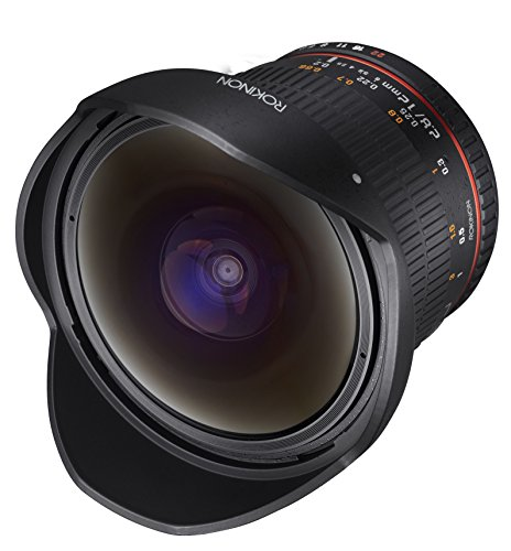 Rokinon 12mm F2.8 Ultra Wide Fisheye Lens for Pentax DSLR Cameras- Full Frame Compatible