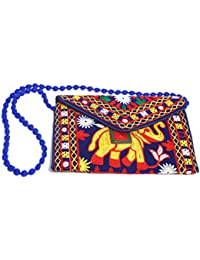 Rajasthani Handicraft Embroidered Clutch Sling Bag Clutch Bag