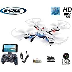 S-Idee 01603cuadricóptero S181W dron WiFi FPV con cámara HD de 4.5canales, 2.4GHz, Drone con Cámara Gyro 6Axis técnica RC Quadro 3D VR posible, estabilización en altura, Función One Key Return Coming Home