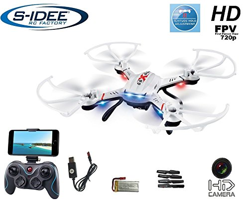 s-idee® 01603 Quadrocopter S181W Wifi Drohne FPV HD Kamera 4.5 Kanal 2.4 Ghz Drone mit Kamera Gyro 6 Axis Technik RC Quadro 3D VR möglich, Höhenstabilisierung, One Key Return Coming Home Funktion