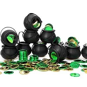 12 Mini Calderos de Plástico