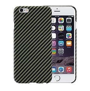 iPhone 6 / iPhone 6s Cover con Schermo protettivo, Nero / Giallo, 4.7 pollici Caso ultra sottile 0.65 mm da PITAKA Aramid Fibre