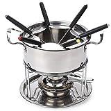 Fondue set roestvrij staal Cheese roestvrij staal van 6 vorken/DIY fondue set Chocolate Zilver - 6