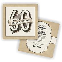 Suchergebnis Auf Amazon De Fur Einladungskarten Zum 60 Geburtstag