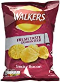 Walkers Smokey Bacon Crisps 32.5 g (Pack of 32)