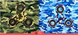 Spinner Fidget toy Limited Edition Spielzeug toys für die Hand / Finger als Ablenkung aus Teilcarbon / Hybrid Keramik Metall mit Drei / Tri-Spinner Kugellager / vergleichbar mit Squeeze und Antistressball für Geschicklichkeitspiele bei Kinder und Erwachsene als perfektes Geschenk von TK Gruppe (Fidget spinner camo) -