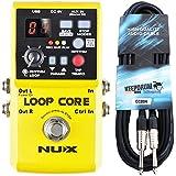 Nux Loop Core Pedal Looper Guitarra con Drum de Machine Keepdrum Guitarra Cable 3m